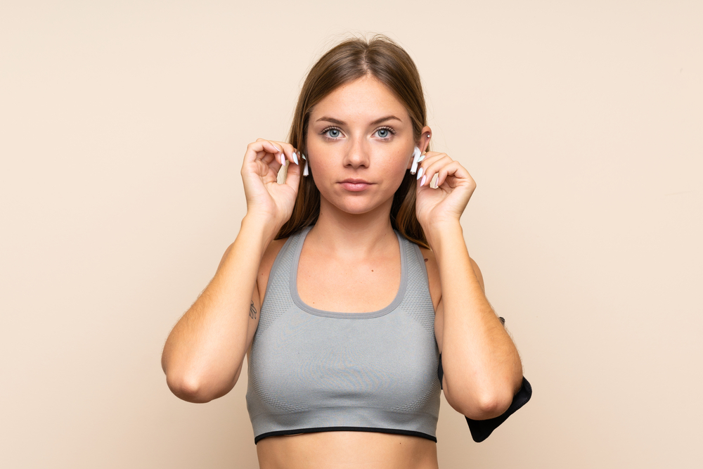 comfortable gym headphone